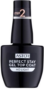 Astor Perfect Stay Gel Top Coat vrchný gélový lak na nechty bez použitia UV/LED lampy