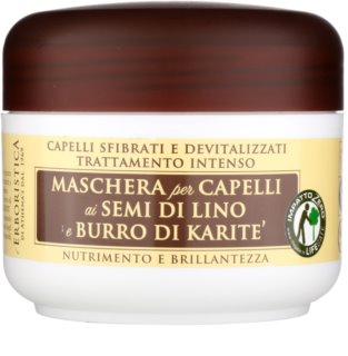 Athena's l'Erboristica mascarilla con aceite de lino para cabello seco y dañado