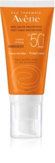 Avene Sun Sensitive Tinted Protective Cream for Dry and Sensitive Skin SPF50+