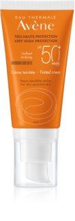 Avène Sun Sensitive tonirana zaščitna krema za suho in občutljivo kožo SPF50+