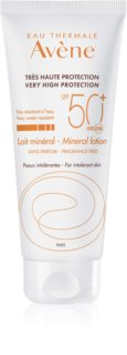Avene Sun Mineral Protective Lotion Free of Chemical Filters and Fragrance SPF 50+