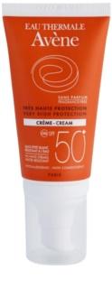 Avène Sun Sensitive krém na opalování SPF 50+ bez parfemace