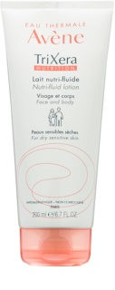 Avène TriXera Nutrition lait nutri-fluide intense visage et corps pour peaux sèches et sensibles