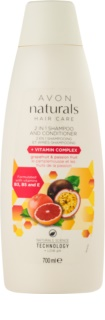 Avon Naturals Hair Care champô e condicionador 2 em 1
