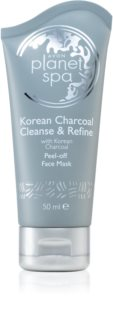 Avon Planet Spa Korean Charcoal Cleanse & Refine Abziehtuch-Gesichtsmaske mit Aktivkohle