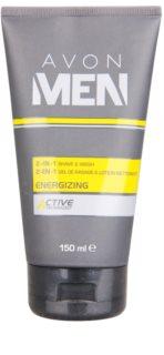 Avon Men Energizing Rasiergel und Reinigungsgel 2 in 1