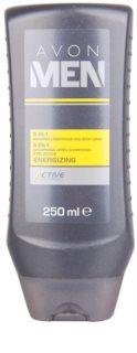 Avon Men Energizing gel de duche para corpo e cabelo