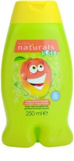 Avon Naturals Kids pěna do koupele a sprchový gel 2 v 1 pro děti