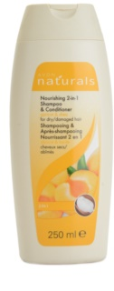 Avon Naturals Hair Care vyživujúci šampón a kondicionér pre suché a poškodené vlasy