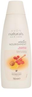 Avon Naturals Hair Care vyživující šampon s medem a brusinkou pro všechny typy vlasů