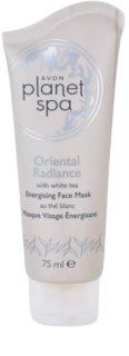 Avon Planet Spa Oriental Radiance poživljajoča luščilna maska za obraz z belim čajem