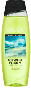 Avon Senses Power Fresh gel de ducha y champú 2en1