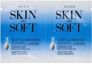 Avon Skin So Soft Smooth восъчни ленти за епилация за лице