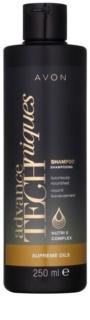 Avon Advance Techniques Supreme Oils інтенсивний поживний шампунь з розкішними маслами для всіх типів волосся