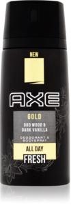 Axe Gold deodorant spray para homens 150 ml