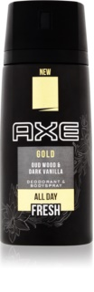 Axe Gold deodorant spray para homens 150 ml