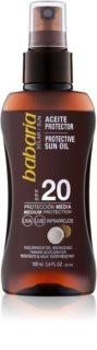 Babaria Sun Protective olej v spreji na opaľovanie SPF 20