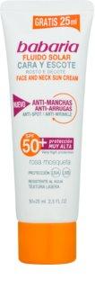 Babaria Sun Facial Sun Cream fluid za sončenje za obraz SPF 50+