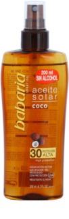 Babaria Sun Aceite Solar aceite bronceador SPF 30