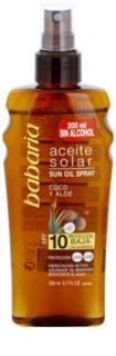 Babaria Sun Aceite Solar ulei pentru plaja SPF 10