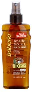 Babaria Sun Aceite Solar Zonnebrandolie  SPF 10