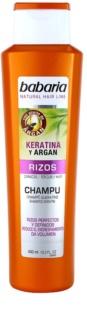 Babaria Argan shampoing pour cheveux bouclés à la kératine et argan