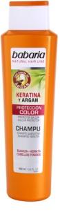 Babaria Argan szampon do ochrony koloru z olejkiem arganowym i keratyną