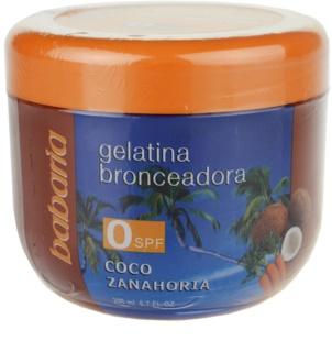 Babaria Sun Bronceador Gelatine voor Ondersteuning van Bruinen  met Kokos en Wortel