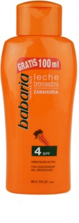 Babaria Sun Bronceador Sun Body Lotion With Carrots