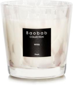 Baobab White Pearls dišeča sveča  6,5 cm
