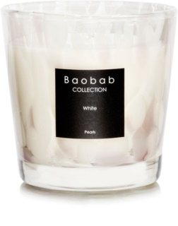 Baobab White Pearls Duftkerze  6,5 cm