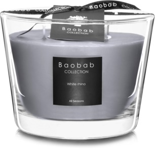 Baobab White Rhino Scented Candle 10 cm