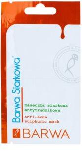Barwa Sulphur antybakteryjna maska normalizująca przeciw trądzikowi