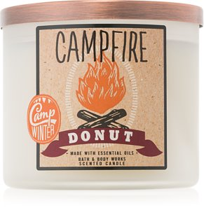 Bath & Body Works Camp Winter Campfire Donut Αρωματικό κερί 411 γρ