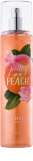 Bath & Body Works Pretty as a Peach spray corporel pour femme 236 ml pailleté