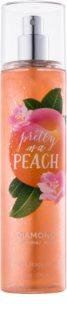 Bath & Body Works Pretty as a Peach spray corporel pour femme 236 ml pailleté