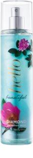 Bath & Body Works Hello Beautiful spray de corpo para mulheres 236 ml  com glitter