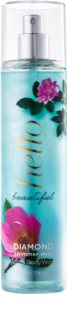 Bath & Body Works Hello Beautiful Körperspray für Damen 236 ml  mit Glitzerteilchen