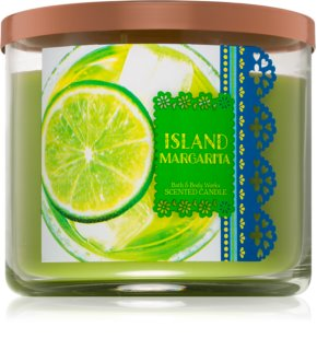Bath & Body Works Island Margarita vela perfumada 411 un.