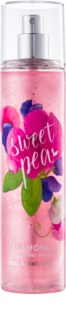 Bath & Body Works Sweet Pea Körperspray für Damen 236 ml glitzernd