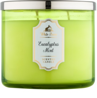 Bath & Body Works White Barn Eucalyptus Mint dišeča sveča  411 g