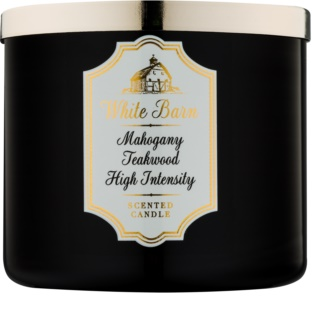 Bath & Body Works White Barn Mahogany Teakwood High Intensity bougie parfumée 411 g