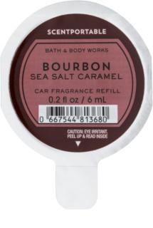 Bath & Body Works Bourbon Sea Salt Caramel parfum pentru masina 6 ml Refil