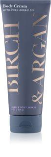Bath & Body Works Birch & Argan crème corps pour femme 226 g