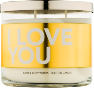 Bath & Body Works I Love You vonná svíčka 411 g