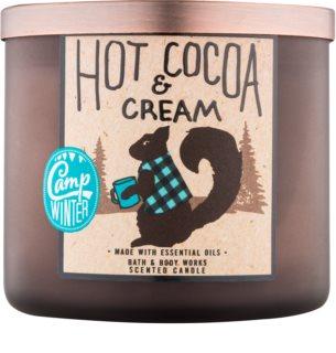Bath & Body Works Camp Winter Hot Cocoa & Cream dišeča sveča  411 g