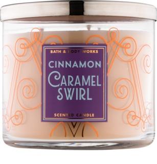 Bath & Body Works Cinnamon Caramel Swirl Duftkerze  411 g