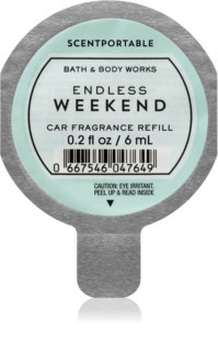 Bath & Body Works Endless Weekend Auto luchtverfrisser  6 ml Vervangende Vulling