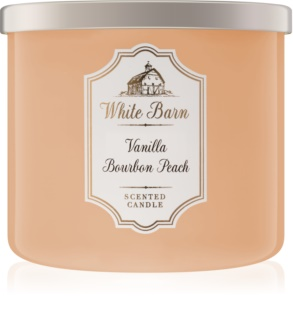 Bath & Body Works Vanilla Bourbon Peach mirisna svijeća 411 g