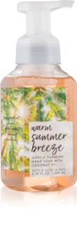 Bath & Body Works Warm Summer Breeze hab szappan kézre